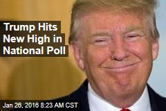 Trump Hits New High in National Poll
