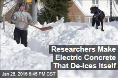 Researchers Make Electric Concrete That De-Ices Itself