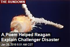 A Poem Helped Reagan Explain Challenger Disaster