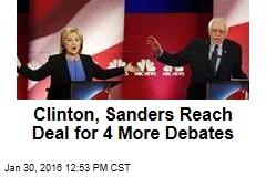 Clinton, Sanders Reach Deal for 4 More Debates