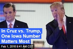 In Cruz vs. Trump, One Iowa Number Matters Most