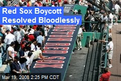 Red Sox Boycott Resolved Bloodlessly
