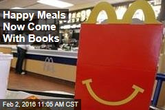 Happy Meals Now Come With Books