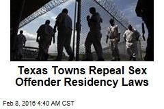 texas sex offender laws regarding residence in Waterloo