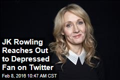 JK Rowling Reaches Out to Depressed Fan on Twitter