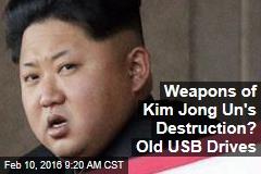 Weapons of Kim Jong Un's Destruction? Old USB Drives