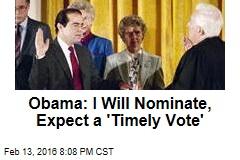Obama: I Will Nominate a Successor