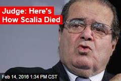 Judge Reveals Scalia's Official Cause of Death