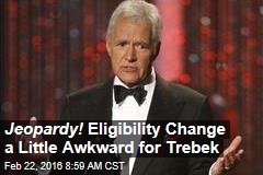 Jeopardy! Eligibility Change a Little Awkward for Trebek