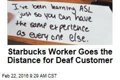 Cashier Learns Sign Language for Deaf Customer