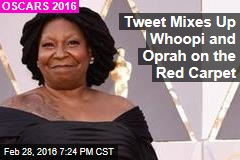 Tweet Mixes Up Whoopi and Oprah on the Red Carpet