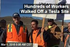 Striking Union Workers Bash Tesla for 'Corporate Welfare'