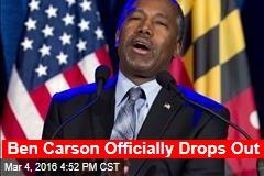 Ben Carson Officially Drops Out