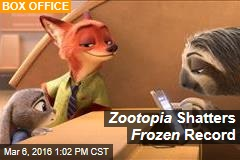 Zootopia Shatters Frozen Record