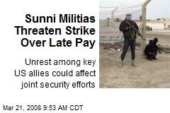 Sunni Militias Threaten Strike Over Late Pay
