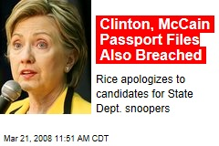 Clinton, McCain Passport Files Also Breached