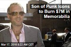 Son of Punk Icons to Burn $7M in Memorabilia