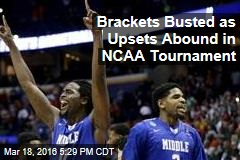 Brackets Busted as Upsets Abound in NCAA Tournament