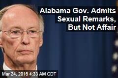 Alabama Gov. Admits Remarks, But Not Affair