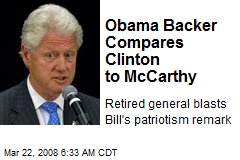 Obama Backer Compares Clinton to McCarthy
