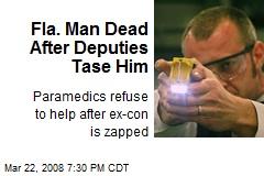 Fla. Man Dead After Deputies Tase Him