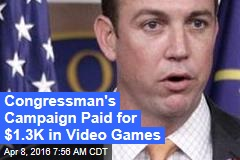 Congressman's Campaign Paid for $1.3K in Video Games