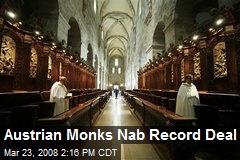 Austrian Monks Nab Record Deal