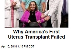 Yeast Infection Ruins First US Uterus Transplant