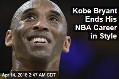 Kobe Bryant Ends NBA Career in Style