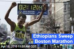 Ethiopians Sweep Boston Marathon