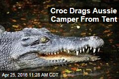Croc Drags Aussie Camper From Tent