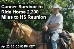 Cancer Survivor to Ride Horse 2,200 Miles to HS Reunion