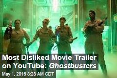Most Disliked Movie Trailer on YouTube: Ghostbusters