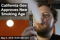 California Gov Approves New Smoking Age