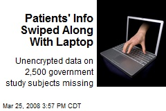 Patients' Info Swiped Along With Laptop