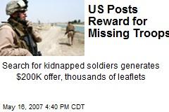US Posts Reward for Missing Troops
