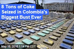8 Tons of Coke Seized in Colombia's Biggest Bust Ever