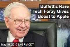 Buffett's Rare Tech Foray Gives Boost to Apple