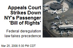 Appeals Court Strikes Down NY's Passenger 'Bill of Rights'