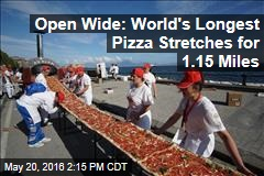 Open Wide: World's Longest Pizza Stretches for 1.15 Miles