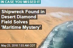 Shipwreck Found in Desert Diamond Field Solves 'Maritime Mystery'