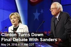 Clinton Skipping Final Debate With Sanders