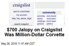 $700 Jalopy on Craigslist Was Million-Dollar Corvette