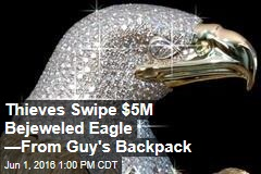 Thieves Swipe $5M Bejeweled Eagle —From Guy's Backpack