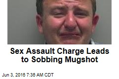 Sex Assault Charge Leads to Sobbing Mugshot