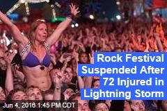 Rock Festival Suspended After 72 Injured in Lightning Storm
