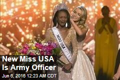 New Miss USA Is Army Officer