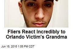 Fliers React Incredibly to Orlando Victim's Grandma