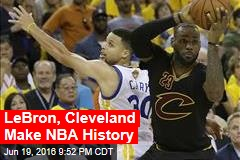 LeBron, Cleveland Make NBA History