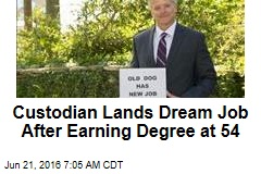 Custodian Lands Dream Job After Earning Degree at 54